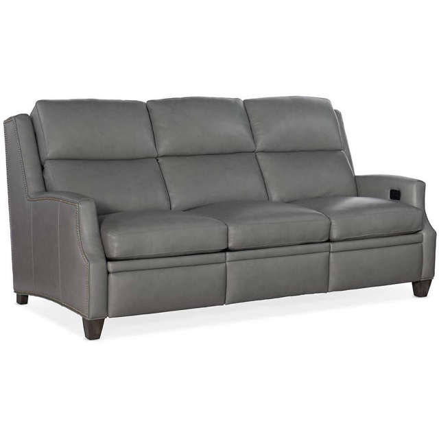 Sylus Leather Reclining Sofa With