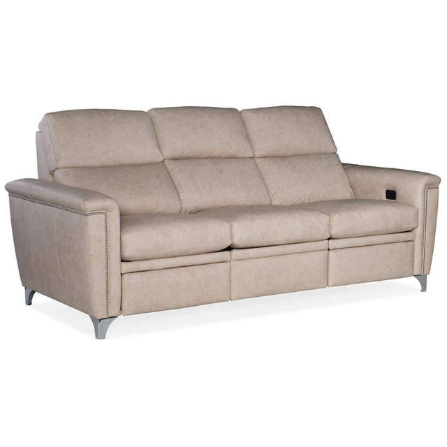 Hennigan Leather Power Reclining Sofa With Articulating Headrest - Clearance Furniture