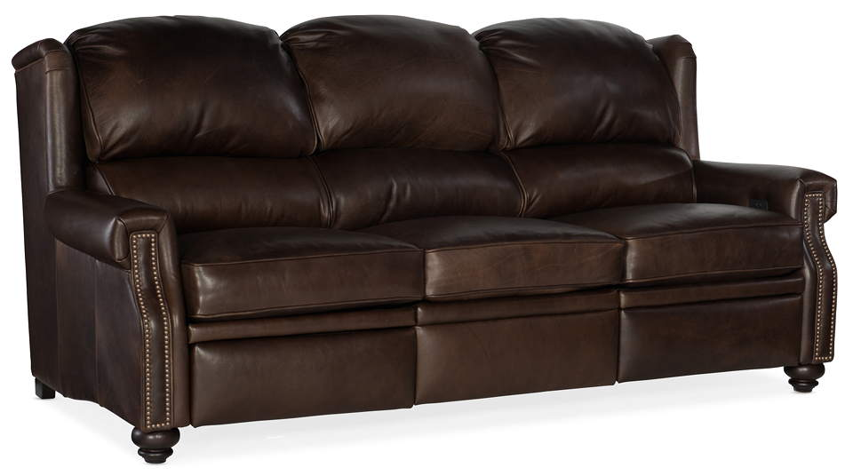 Brickley Leather Power Reclining Sofa With Articulating Headrest