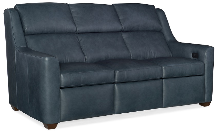 Wilshire Leather Power Reclining Sofa With Articulating Headrest