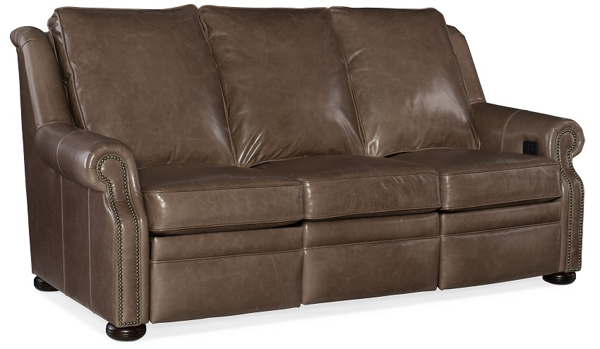 Paddington Leather Power Reclining Sofa With Articulating Headrest
