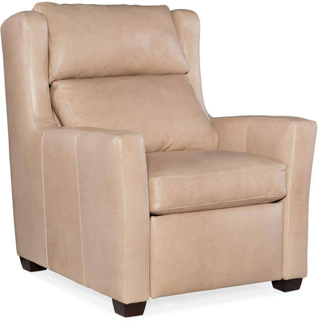 Cane Leather Power Recliner with adjustable heaadrest