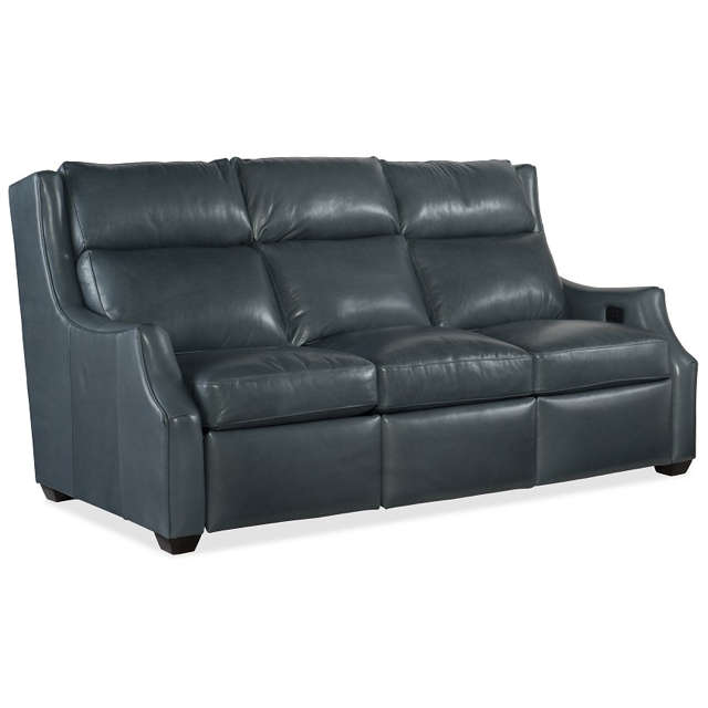 Conover Leather Reclining Sofa With Articulating Headrest