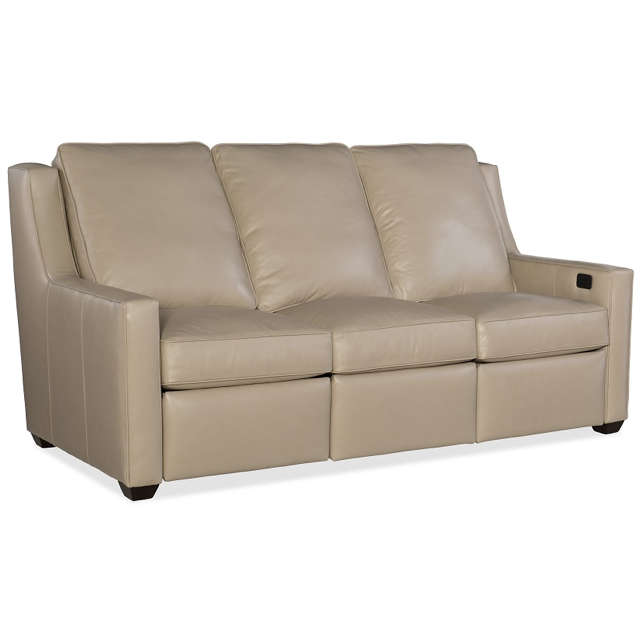 Westmont Leather Power Reclining Sofa With Adjustable Headrest