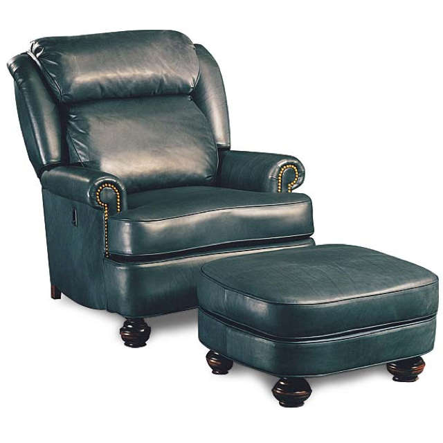 Tilt Back Chair and Ottoman