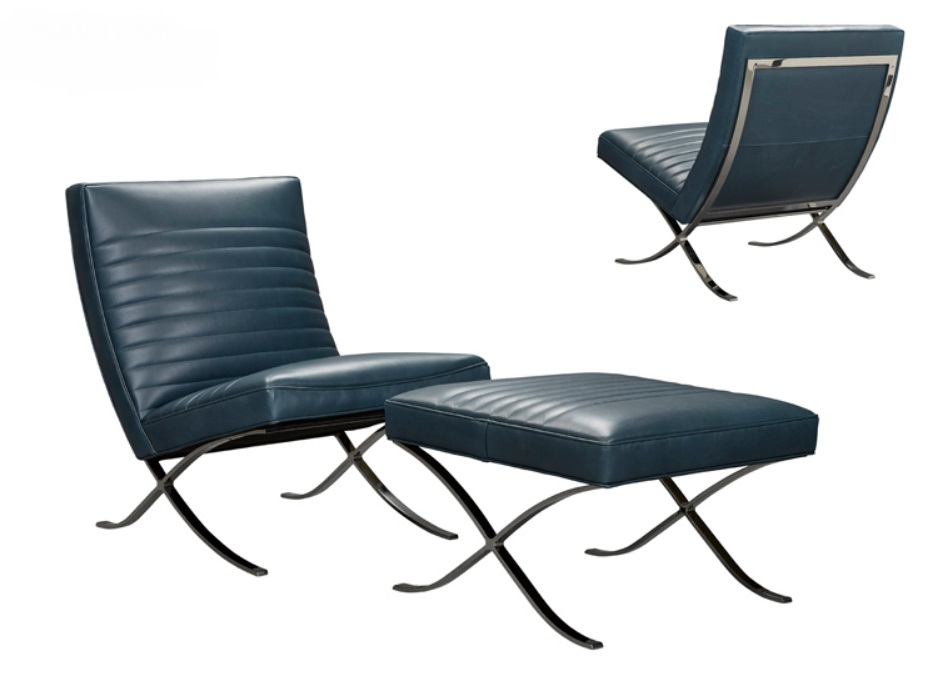 Rollins Leather Chair. American Luxury 700 211 31 A