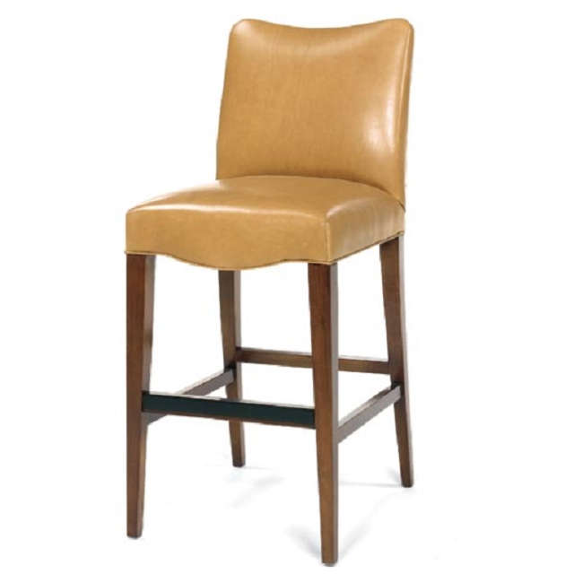American Made Leather Bar Stool