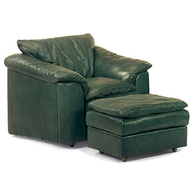 Denver Leather Pillow Top Chair