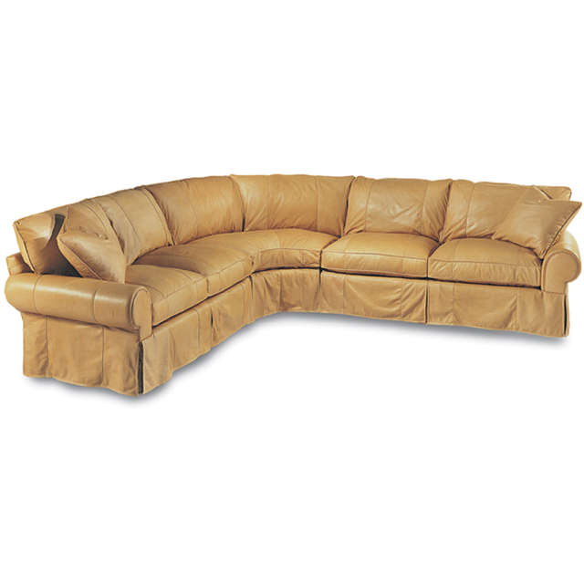 Slip Cover Leather Sectional