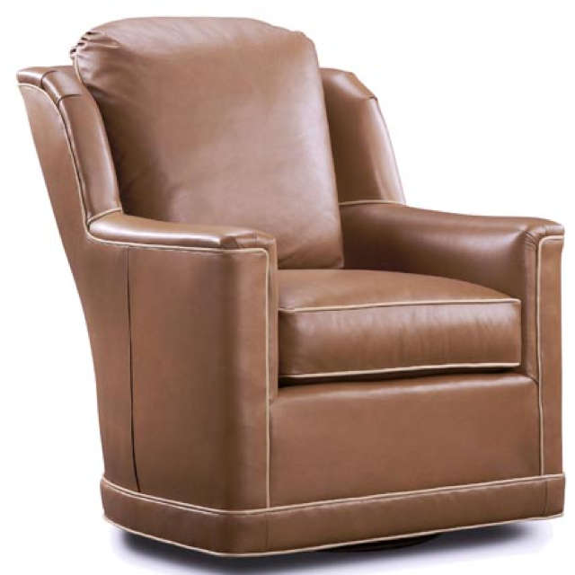Buxton Leather Swivel Chair