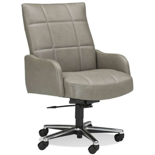 Grey Leather Executive Chair