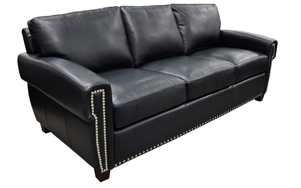 Alden Leather Full Size Sofa Sleeper