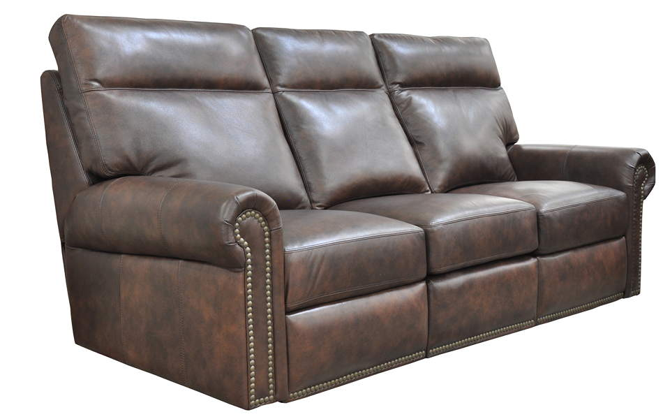 Campbell Leather Power Reclining Sofa With Articulating Headrest