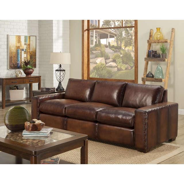 Colorado Leather Sleeper Sofa