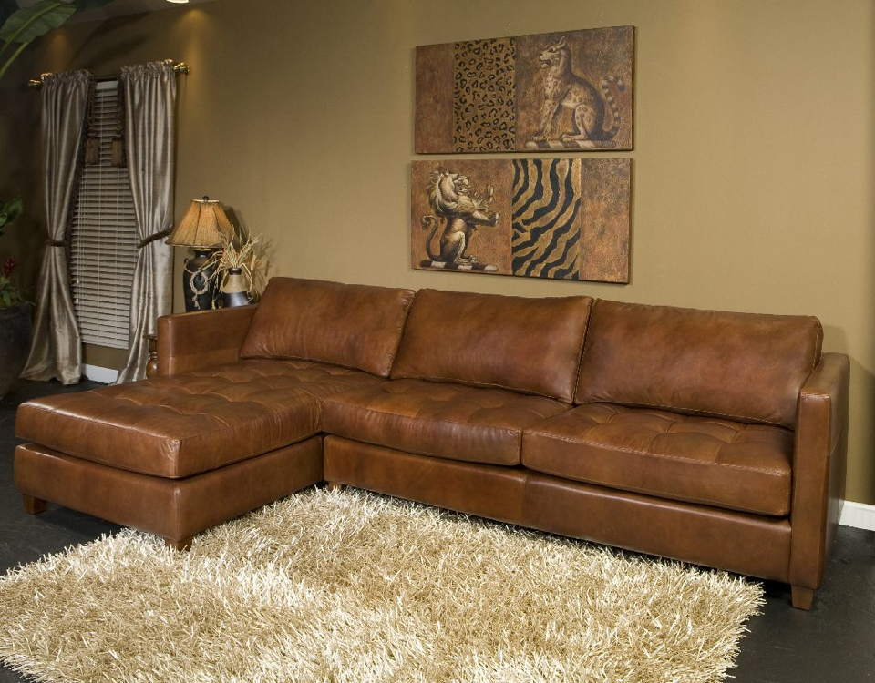 Danilo Leather Sofa With Chaise