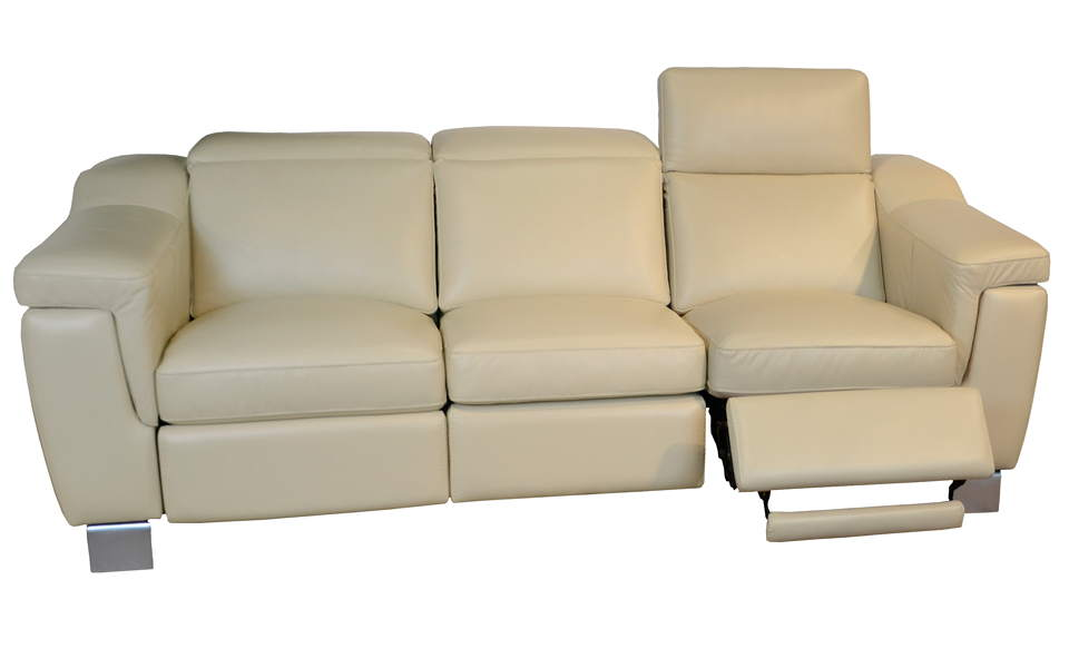 Delano Leather Power Reclining Sofa With Articulating Headrest