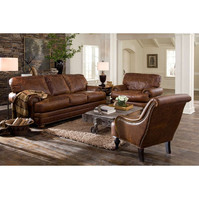Houston Leather Queen Size Sofa Sleeper