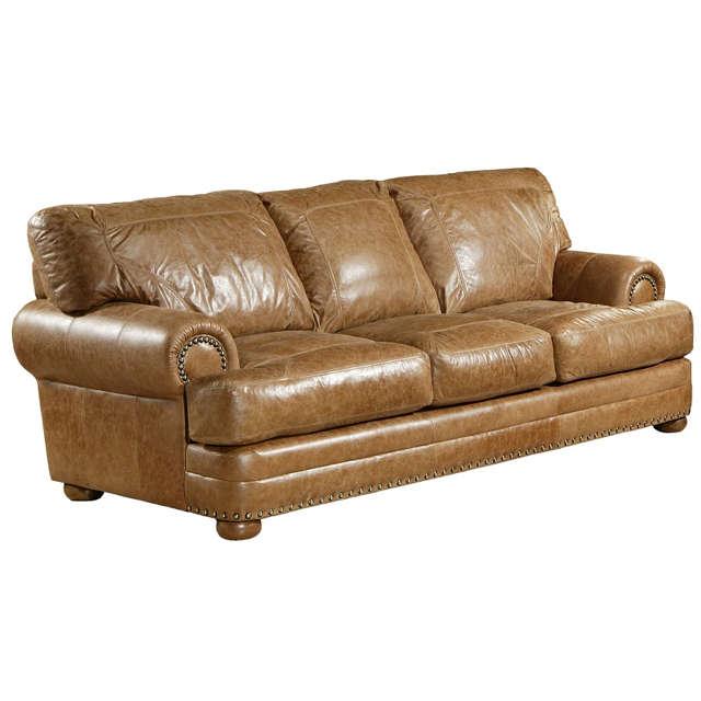 Houston Leather Queen Size Sofa Sleeper