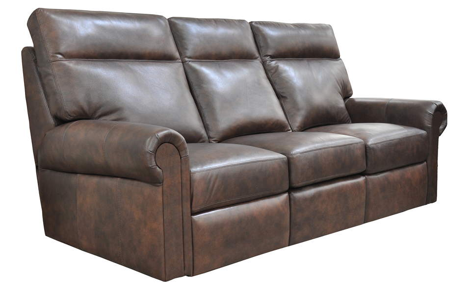 Logic Leather Power Reclining Sofa With Articulating Headrest