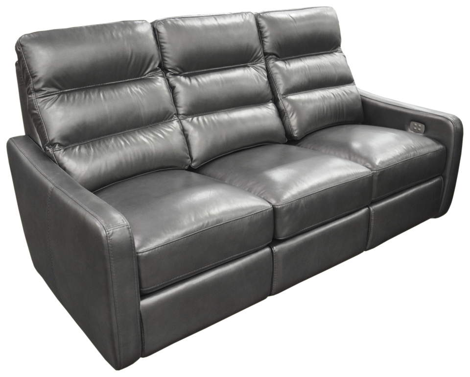 Mercury Leather Power Reclining Sofa With Articulating Headrest