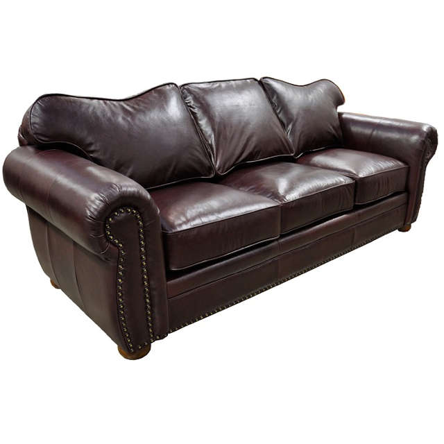 Monte Carlo Leather Queen Size Sleeper Sofa