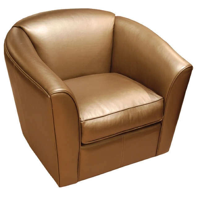 Leather Swivel Tub Chair