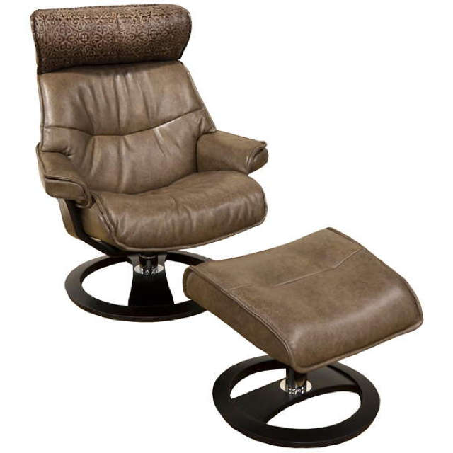 Ergo Leather Chair And Ottoman