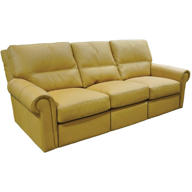 Riley Leather Power Reclining Sofa With Articulating Headrest