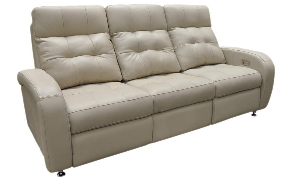 Roxbury Leather Power Reclining Sofa With Articulating Headrest