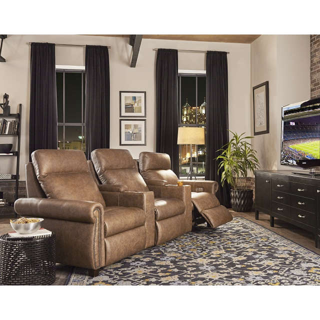 Stanton Leather Home Theater Seating