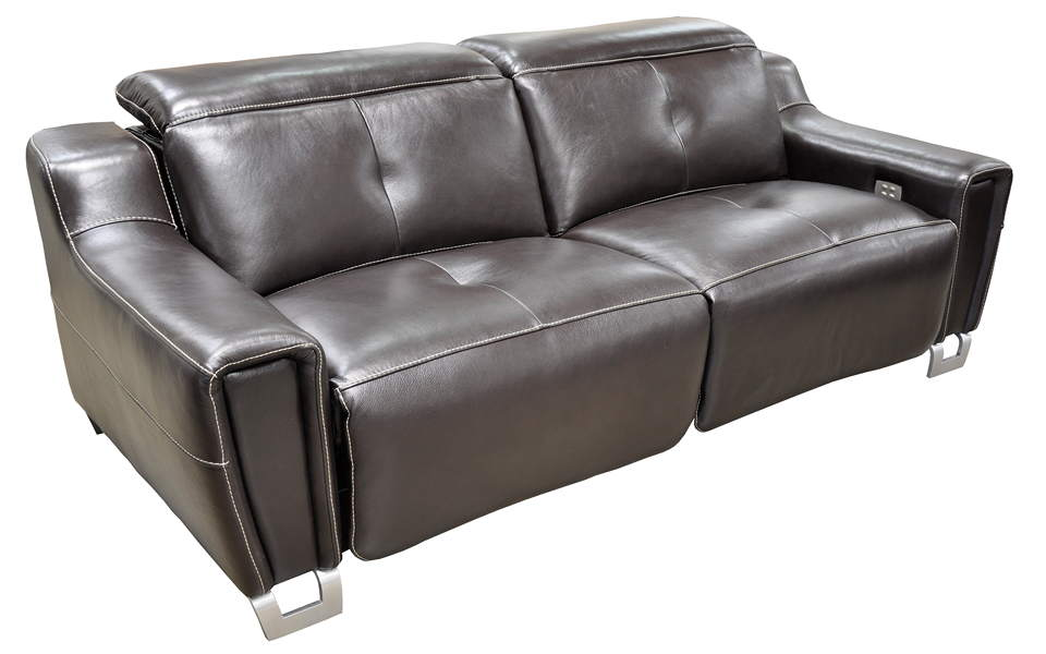 Tratto Leather Power Reclining Sofa With Articulating Headrest