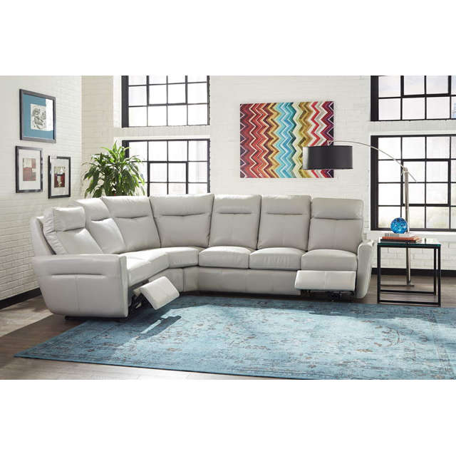 Venus Leather Power Reclining Sectional
