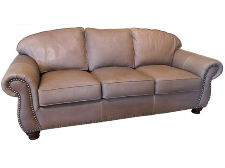 Willow Grove Leather Loveseat
