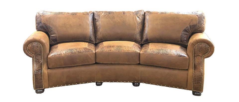 Foster Leather Conversation Sofa