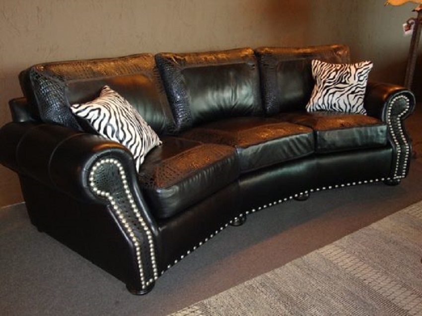 Foster Leather Conversation Sofa