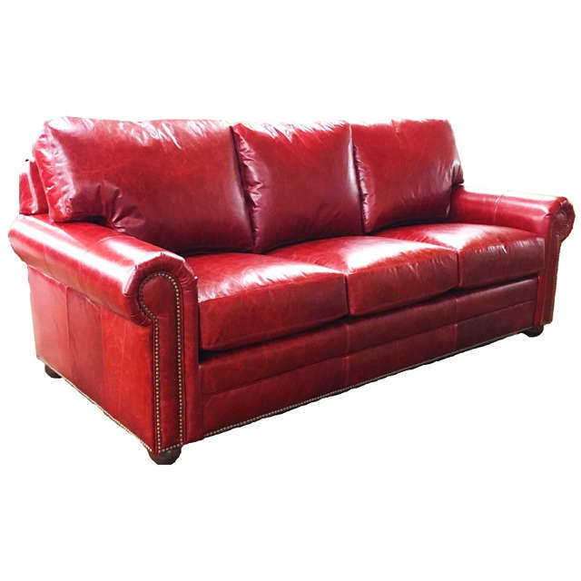 Red Leather Sofa, Red Leather Furniture