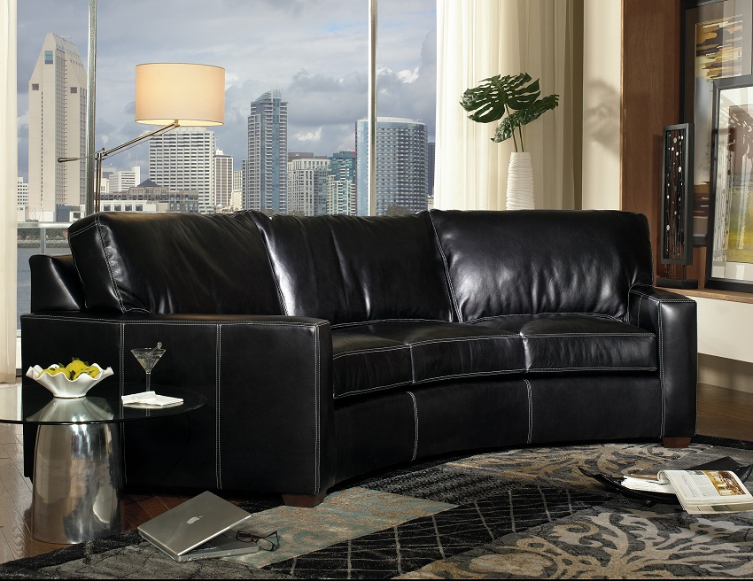 Chancellor Leather Conversation Sofa