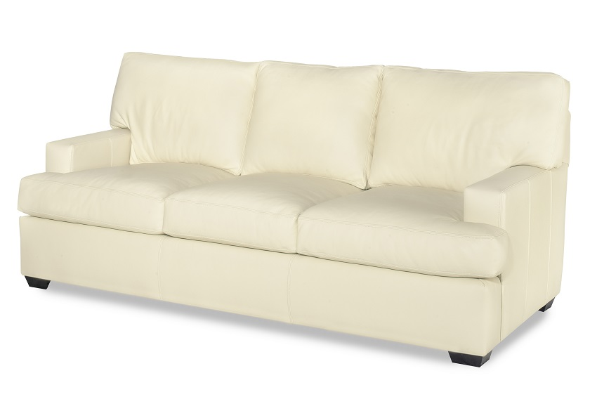 White Leather Queen Sofa Sleeper