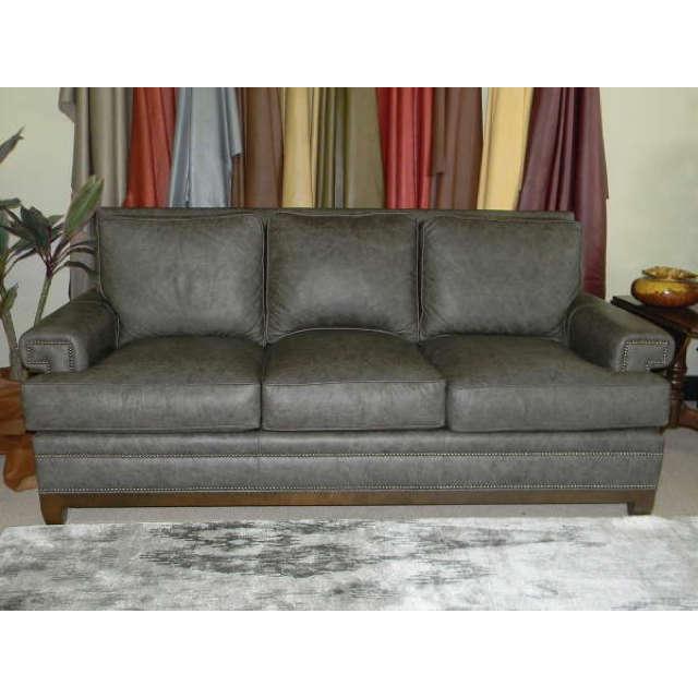 Square Arm Leather Sofa, Square Arm Leather Sofa