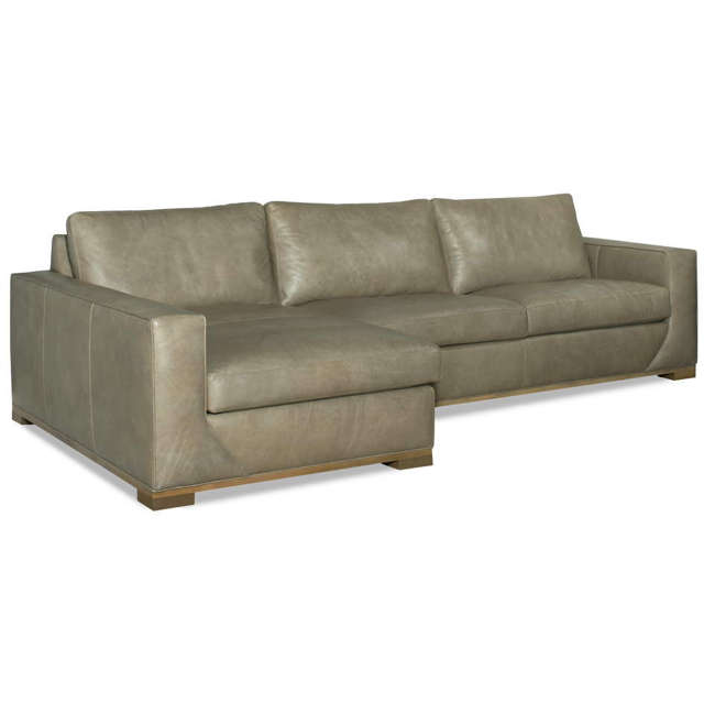 Maybank Leather Sofa With Chaise