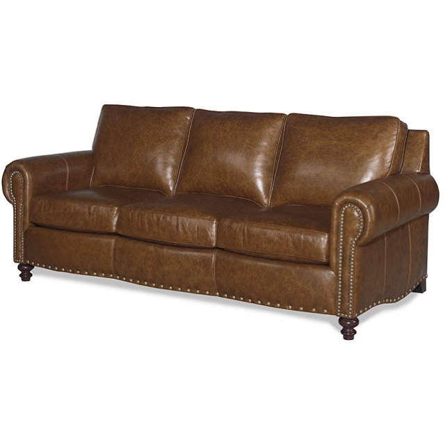 Port Leather Queen Size Sofa Sleeper