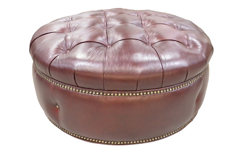 Armstrong Leather Ottoman