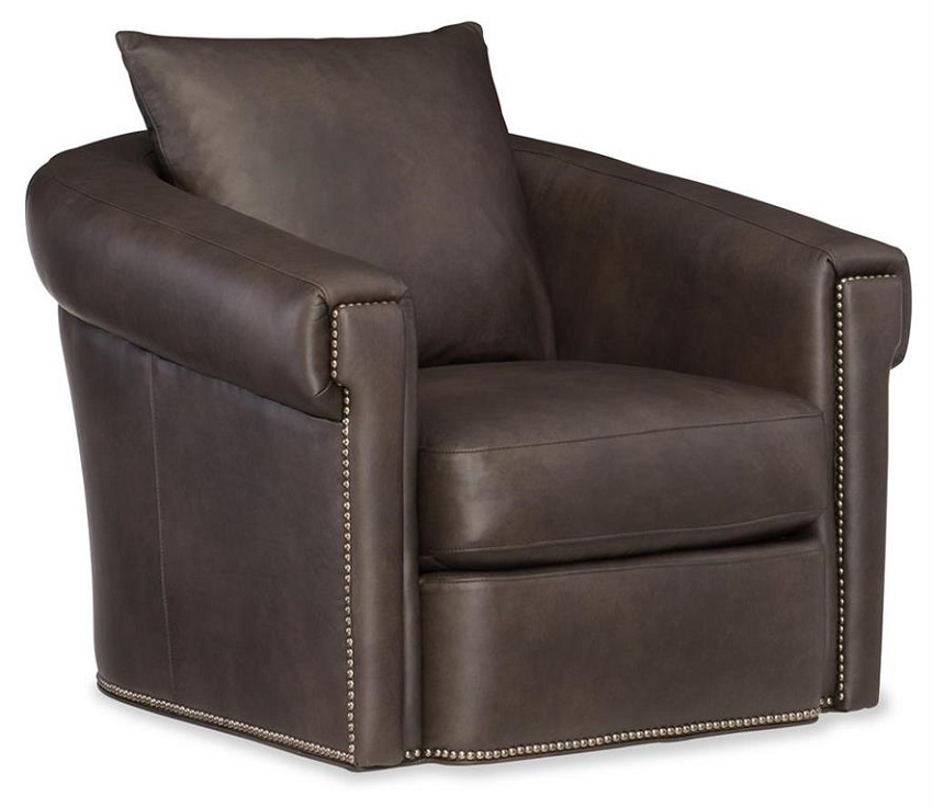 Andre Leather Swivel Glide Chair