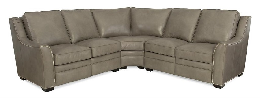 Flanders  Leather Power Reclining Sectional