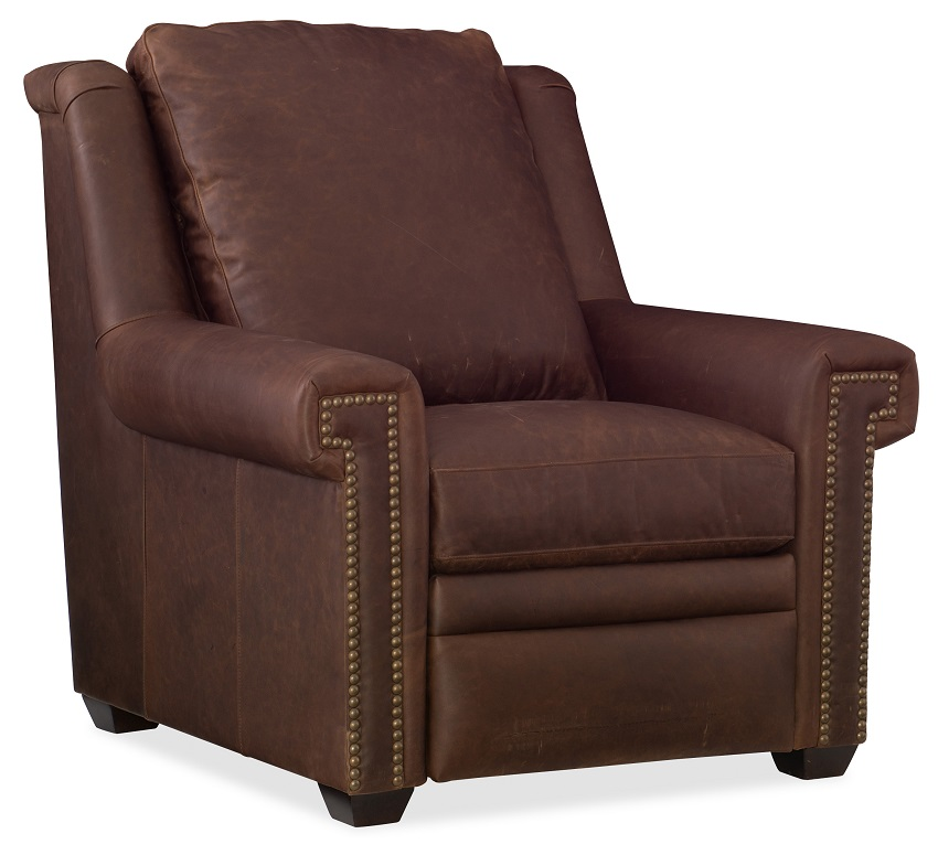 Bilbrook  Leather Power Recliner With Articulating Headrest
