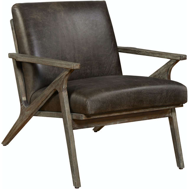 Wylie Leather Chair - Modern Chair