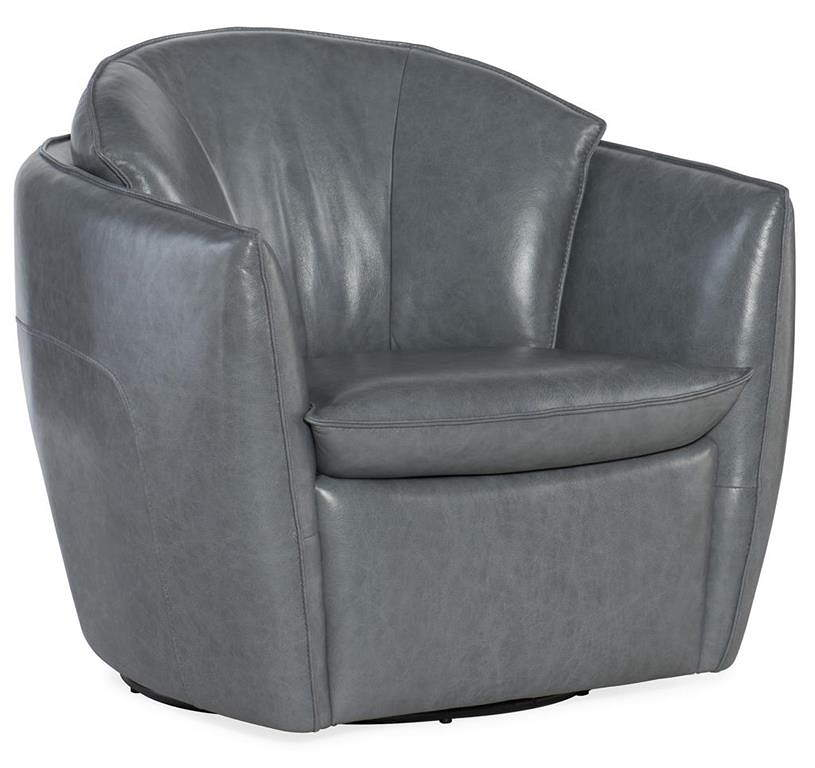Stupendous Brooke Leather Swivel Chair Squirreltailoven Fun Painted Chair Ideas Images Squirreltailovenorg