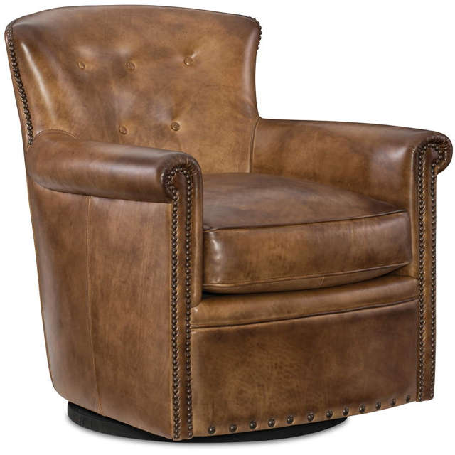 Jane Leather Swivel Chair