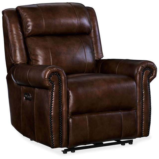 Denny Leather Power Recliner - In Stock