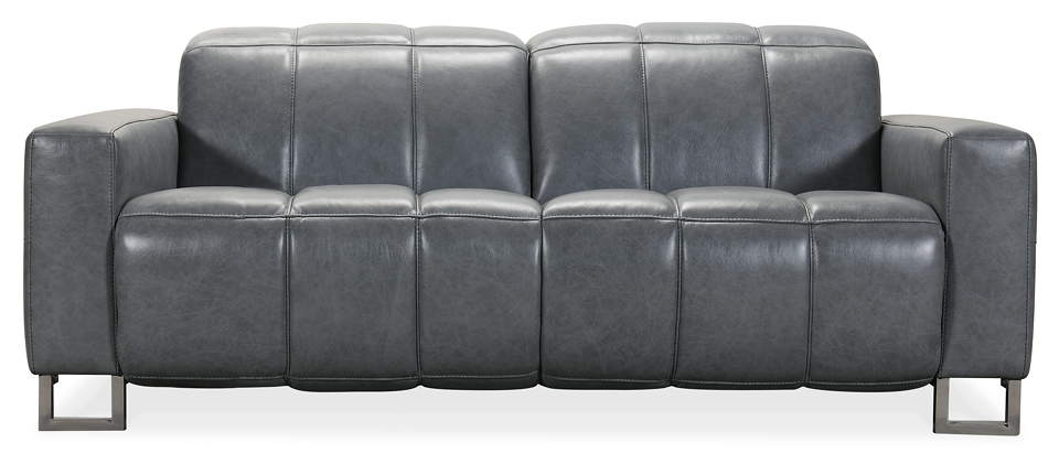 Modern Power Reclining Loveseat with Power Headrest